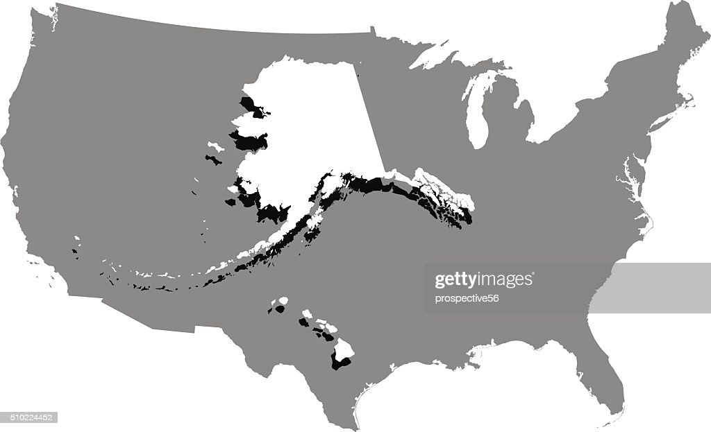 USA map vector outline in a creative 3D design