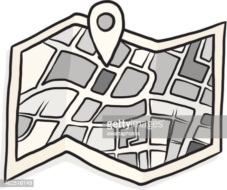 Map With Check In Symbol Cartoon Vector Art Getty Images