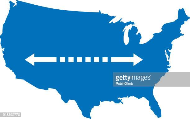USA Map With Double Arrow