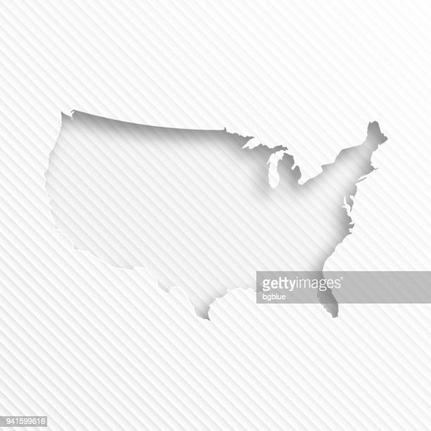 usa map with paper cut on abstract white background - cut or torn paper stock illustrations, clip art, cartoons, & icons
