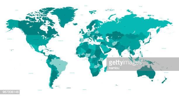 世界の別の国のターコイズをマップします。 - オーストラレーシア点のイラスト素材/クリップアート素材/マンガ素材/アイコン素材