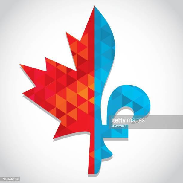 Maple leaf and Fleur de lis  bilingual  design