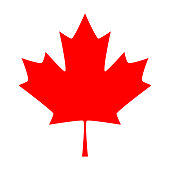 Maple leaf. Canada symbol maple leaf