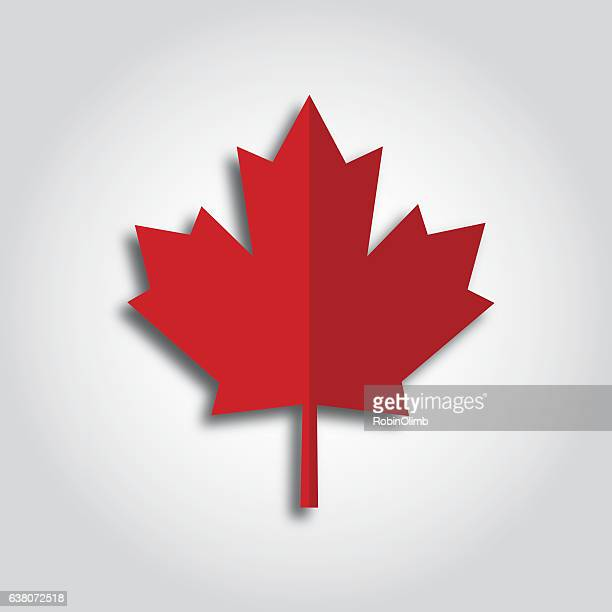 maple leaf icon - canada day stock illustrations