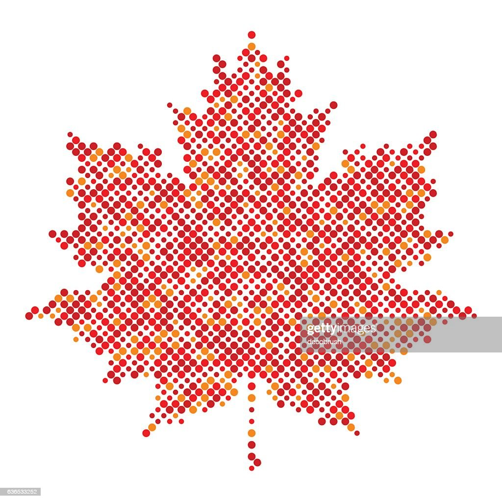Maple leaf isolated dot abstract design symbol