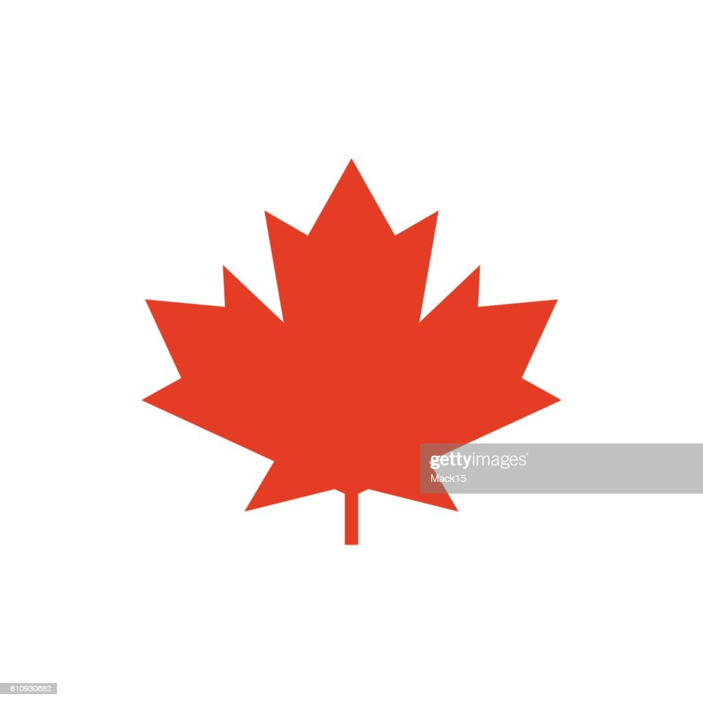 Maple Leaf Vector Icon Symbol Of Canada Vector Art Getty Images