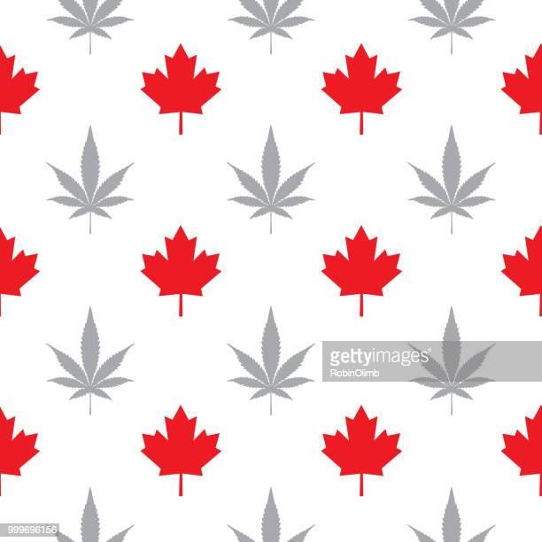 maple marijuana leaves seamless pattern - cannabis medicinal stock illustrations, clip art, cartoons, & icons