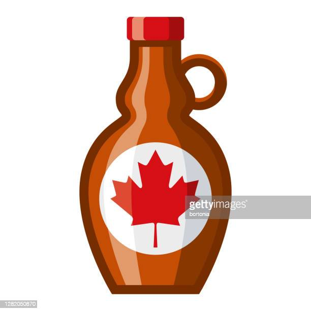 maple syrup icon on transparent background - maple syrup stock illustrations