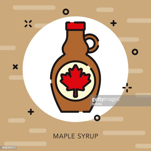 Maple Syrup Open Outline Canadian Icon