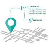 Mapping pin navigation vector infographic contact us icons