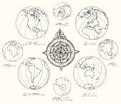 Maps atlas continents.