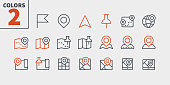 Maps UI Pixel Perfect Well-crafted Vector Thin Line Icons 48x48 Ready for 24x24 Grid for Web Graphics and Apps with Editable Stroke. Simple Minimal Pictogram Part 1-1