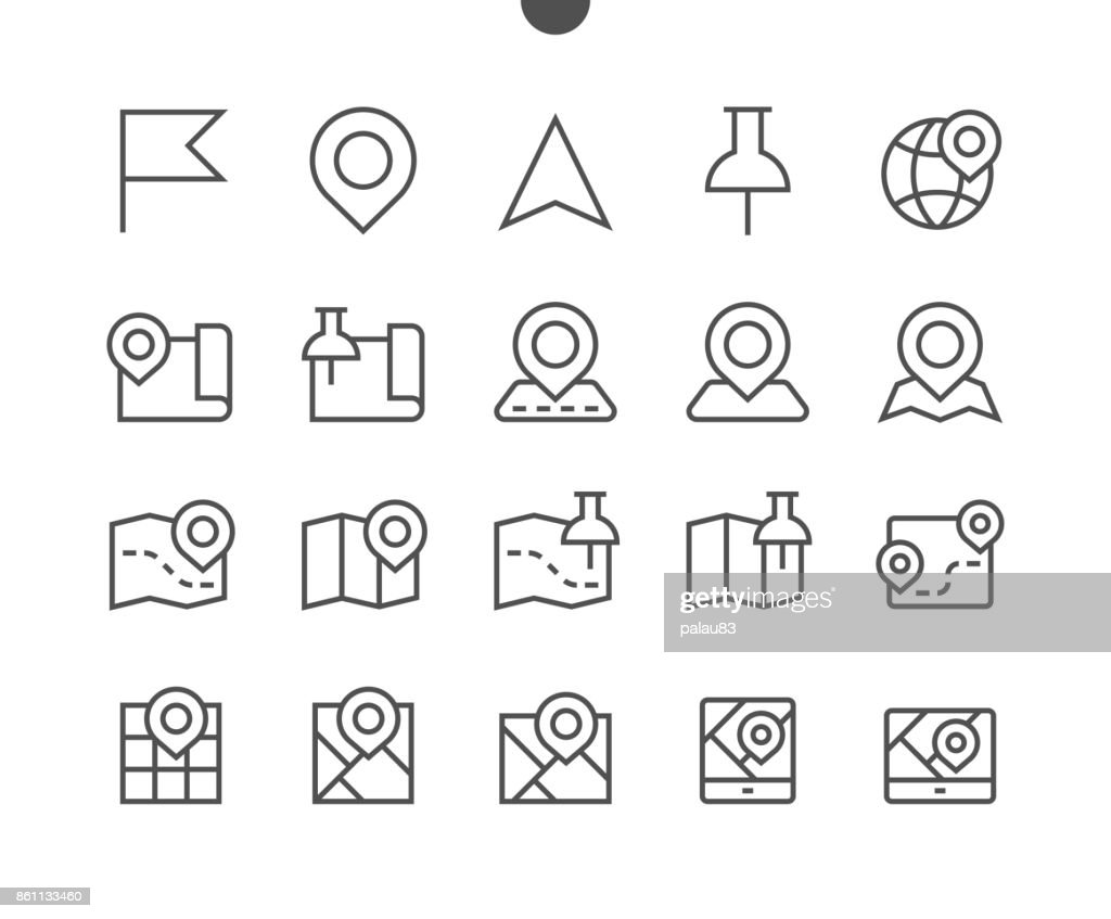 Maps UI Pixel Perfect Well-crafted Vector Thin Line Icons 48x48 Ready for 24x24 Grid for Web Graphics and Apps with Editable Stroke. Simple Minimal Pictogram