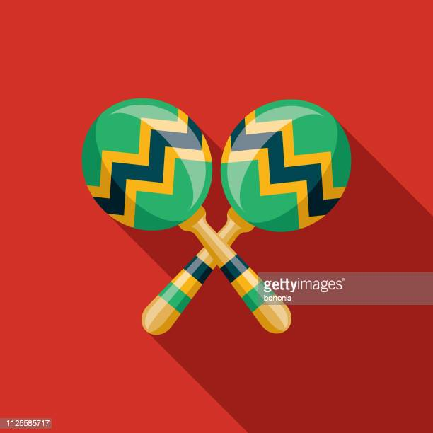 maracas brazil icon - samba stock illustrations