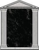 Marble Column Frame