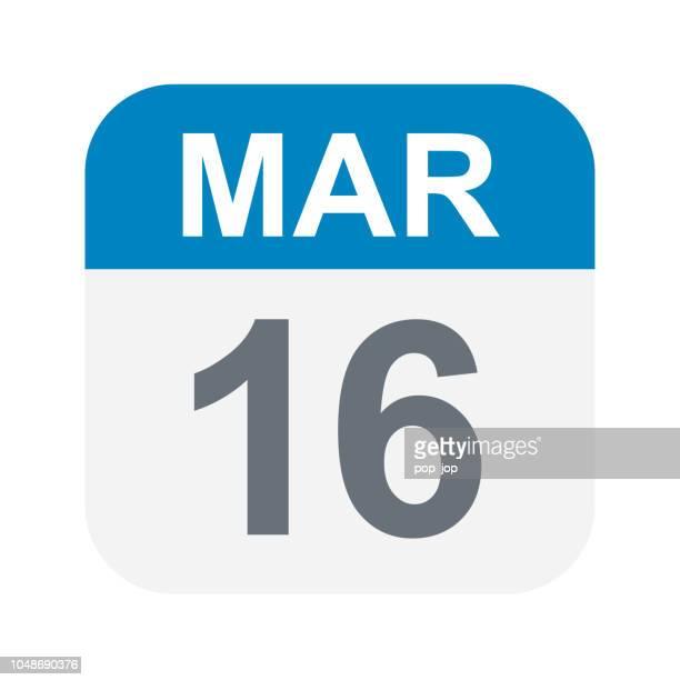 March 16 - Calendar Icon