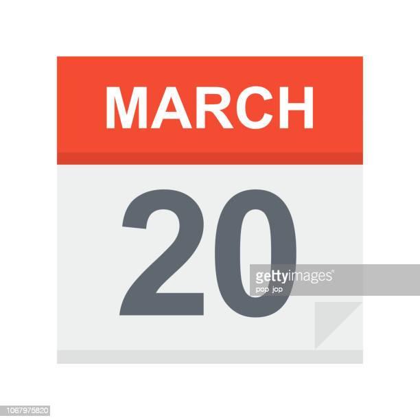 March 20 - Calendar Icon