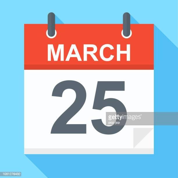 March 25 - Calendar Icon