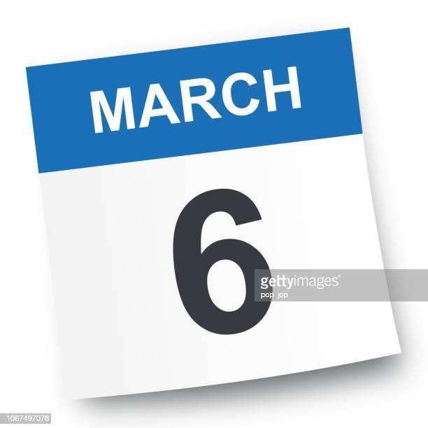 6. März - Kalender-Symbol