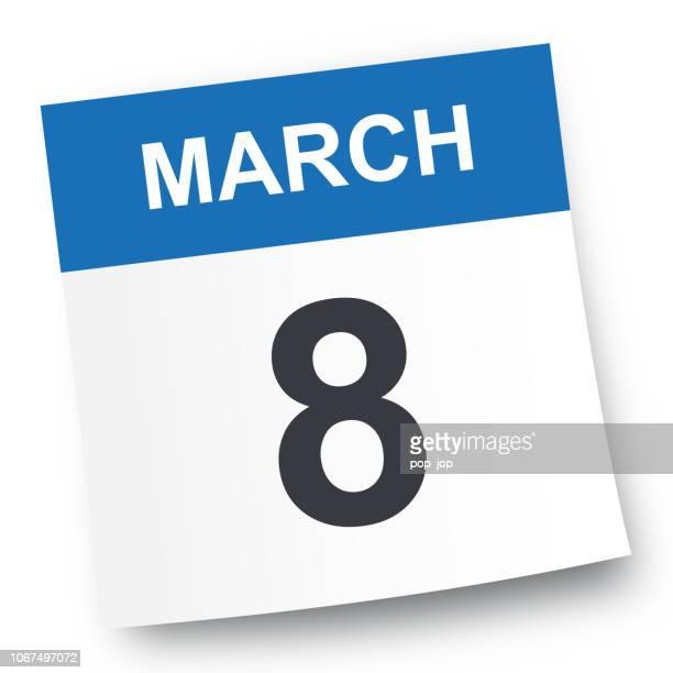 8. März - Kalender-Symbol