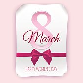 March 8 international women's day card. Greeting card. Vector illustration.