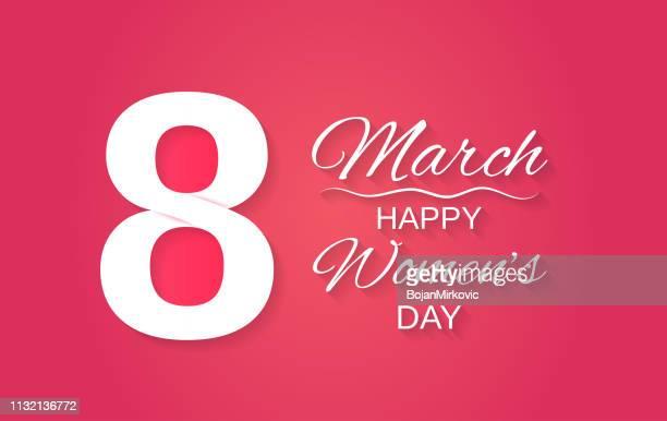 stockillustraties, clipart, cartoons en iconen met 8 maart papier ontwerp. happy women's day. vector illustratie. - internationale vrouwendag