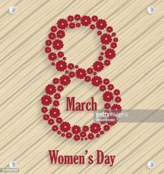 ilustraciones, imágenes clip art, dibujos animados e iconos de stock de 8 de marzo, el cartel de día de la mujer. ilustración de vector. - feliz dia de la mujer