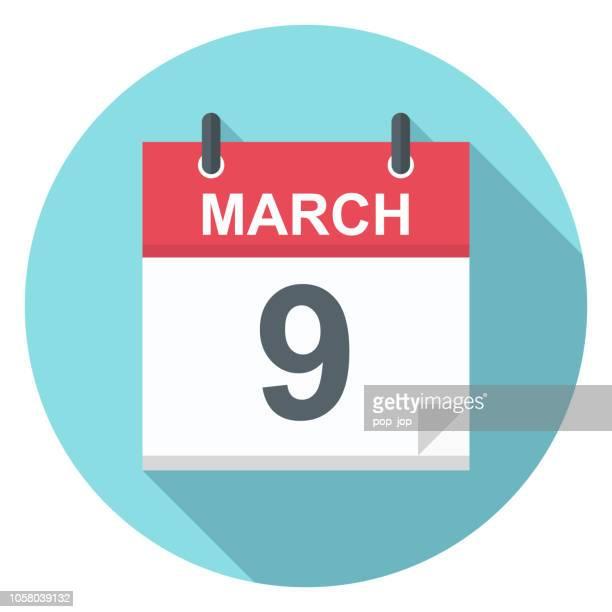 9 März - Kalender-Symbol
