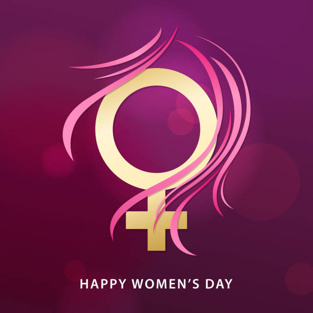 8 march female gender symbol - femininity stock illustrations