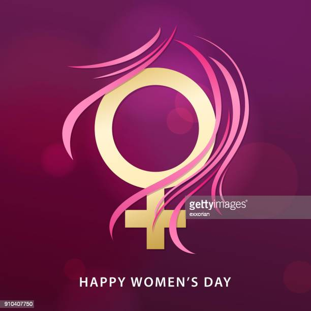 8 march female gender symbol - girly wallpapers stock illustrations