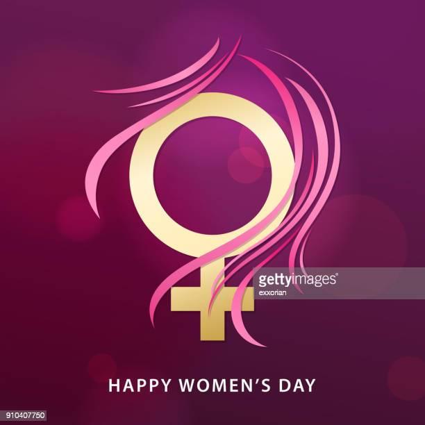 ilustrações de stock, clip art, desenhos animados e ícones de 8 march female gender symbol - dia internacional da mulher