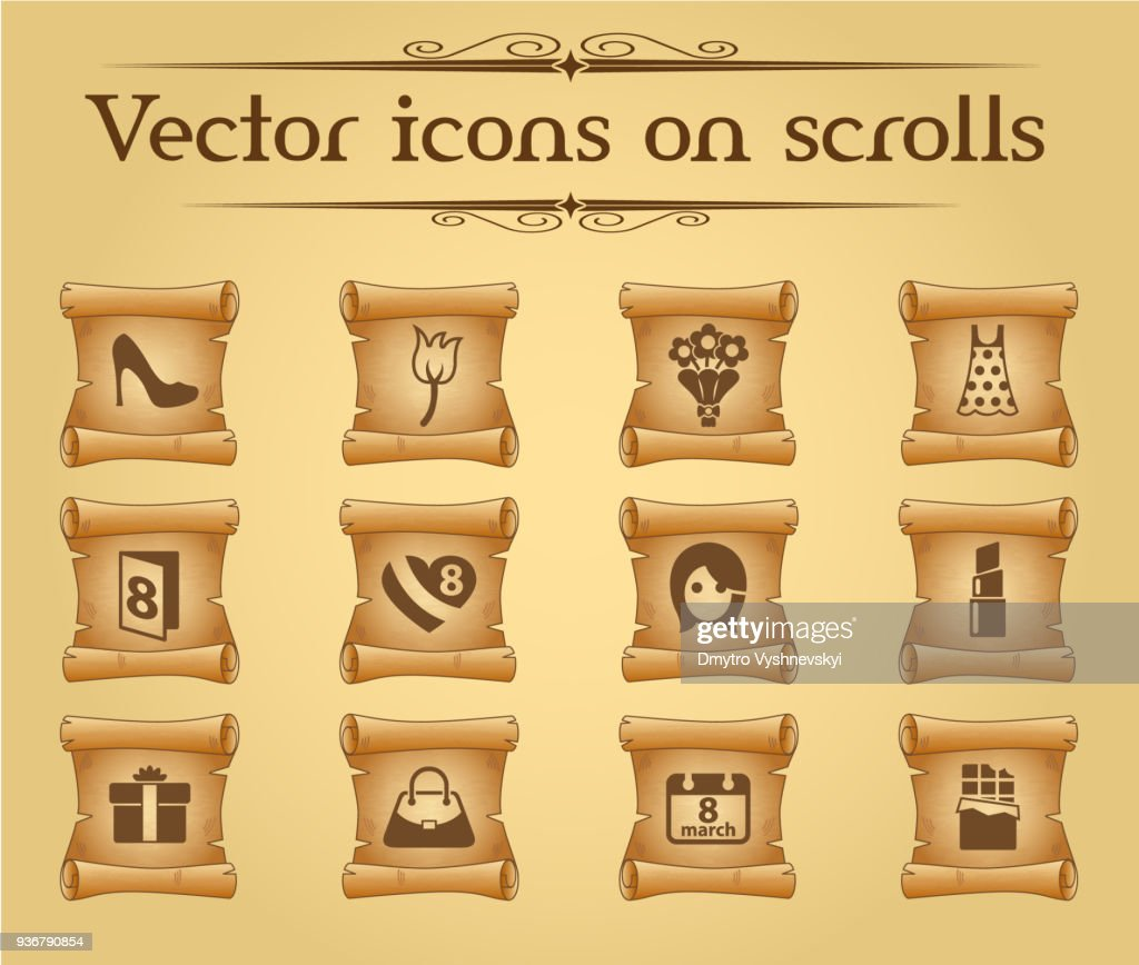 8 march icon set