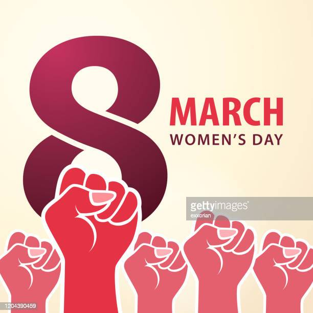 8 march women's day - number 8 stock illustrations