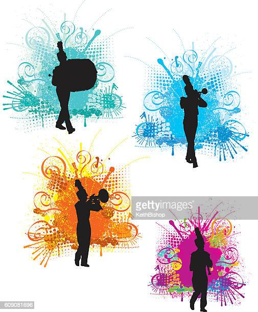 Marching Band Designs - Silhouette Background