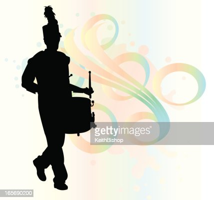Clarinet Players In Marching Band Vector Art