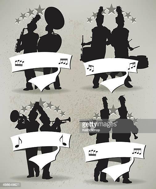 楽隊グランジのアイコン - パレード点のイラスト素材/クリップアート素材/マンガ素材/アイコン素材