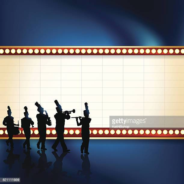 Marching Band Theater Marquee Background