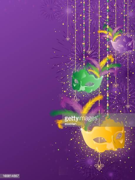 mardi gras background - school carnival stock illustrations, clip art, cartoons, & icons