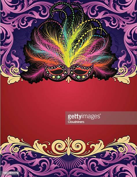 mardi gras banner page - mardi gras stock illustrations, clip art, cartoons, & icons