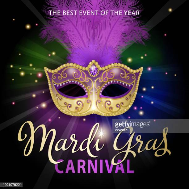 mardi gras carnival mask - mardi gras stock illustrations
