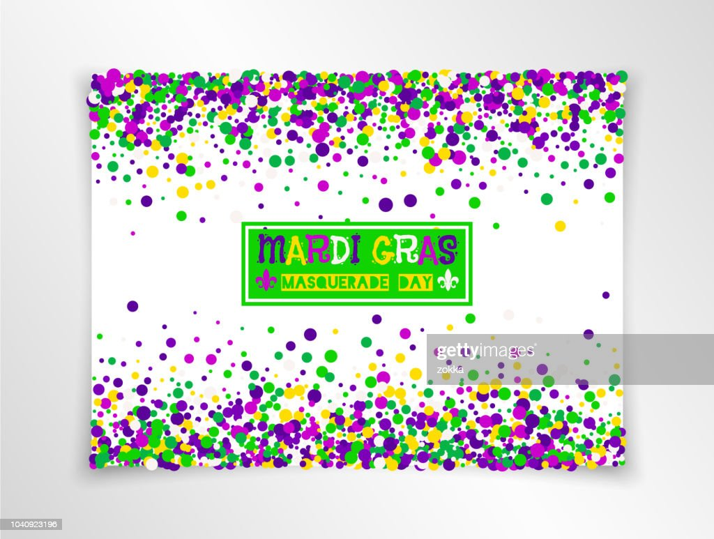 Mardi Gras Carnival masquerade background in bright colors. Vector illustration. All isolated and layered