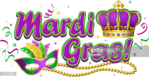 ilustraciones, imágenes clip art, dibujos animados e iconos de stock de mardi gras de celebración - gras