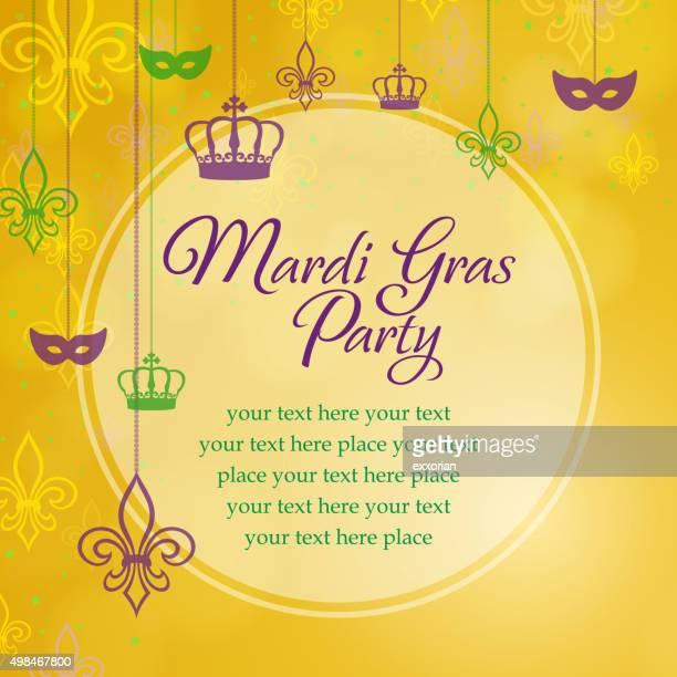 Mardi gras circle sharp message board