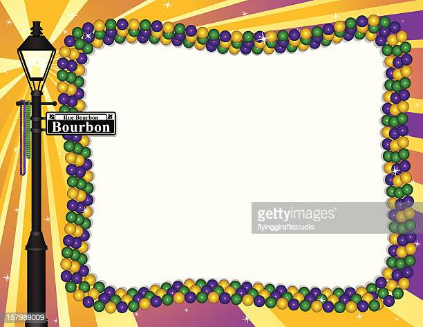 mardi gras frame - new orleans stock illustrations, clip art, cartoons, & icons