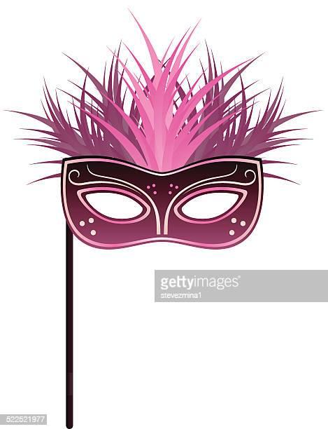 ilustraciones, imágenes clip art, dibujos animados e iconos de stock de mardi gras máscara - gras