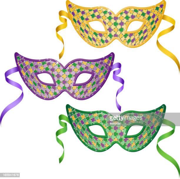 Mardi Gras Masken Set