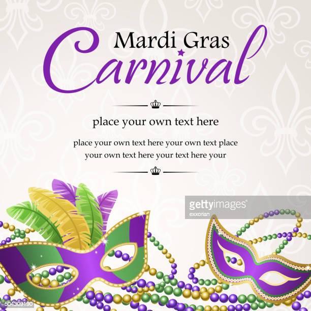 bildbanksillustrationer, clip art samt tecknat material och ikoner med mardi gras masquerade carnival - gras