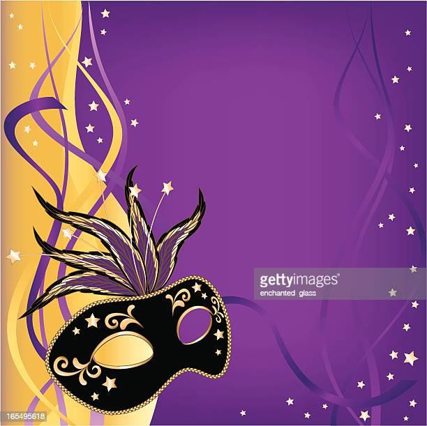 illustrazioni stock, clip art, cartoni animati e icone di tendenza di maschera mardi gras, maschera di - maschere veneziane