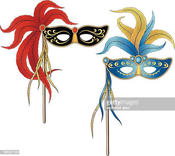 60点のベネチアンマスクのイラスト素材クリップアート素材マンガ素材
