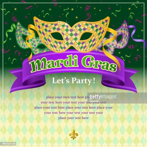 Mardi Gras verkleidete